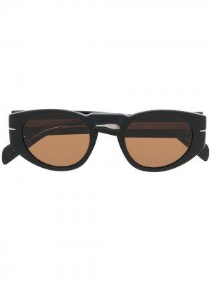 Солнцезащитные очки в оправе кошачий глаз Eyewear by David Beckham. Цвет: черный