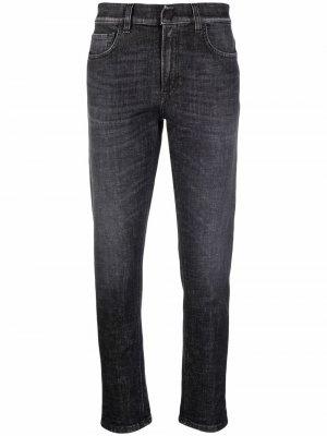 Stonewashed cropped jeans Dondup. Цвет: черный