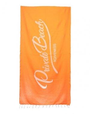 Пляжное полотенце 4GIVENESS. Цвет: оранжевый