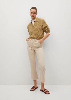 Укороченные джинсы flare - Sienna Mango. Цвет: бежевый