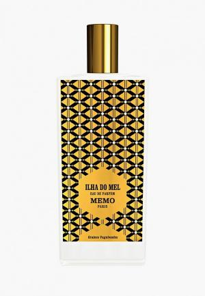 Парфюмерная вода Memo Ilha Do Mel EDP 75 мл. Цвет: прозрачный