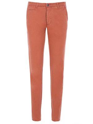 Хлопковые слаксы Baldessarini. Цвет: оранжевый