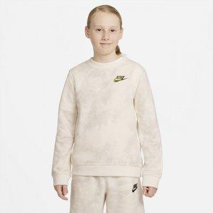 Свитшот с принтом тай-дай для мальчиков школьного возраста Sportswear Magic Club - Коричневый Nike