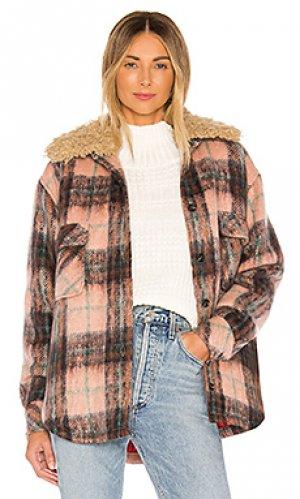 Куртка на пуговицах workwear Smythe. Цвет: розовый