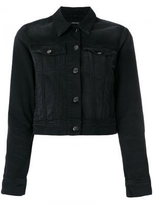 Джинсовая куртка harlow texana J Brand. Цвет: чёрный