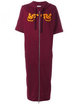 Длинное пальто с короткими рукавами Au Jour Le. Цвет: красный
