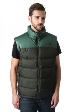 Жилетка Nuptse 2 Vest - Eu Rosin Green The North Face. Цвет: черный,зеленый