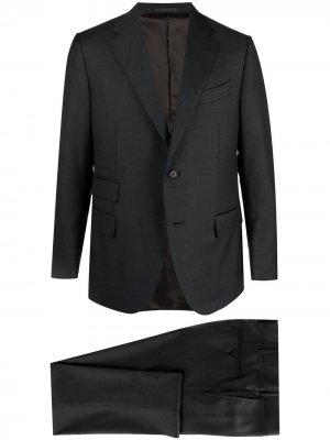 Костюм с однобортным пиджаком Caruso. Цвет: серый