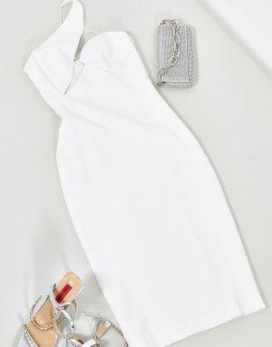 Белое платье миди -Белый AQAQ