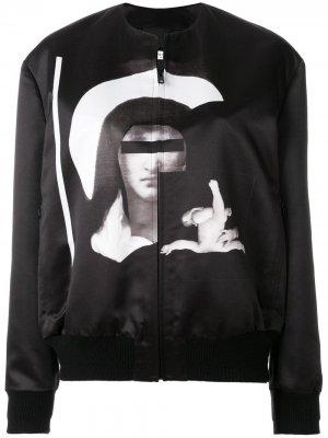 Куртка-бомбер с принтом Madonna Givenchy. Цвет: черный