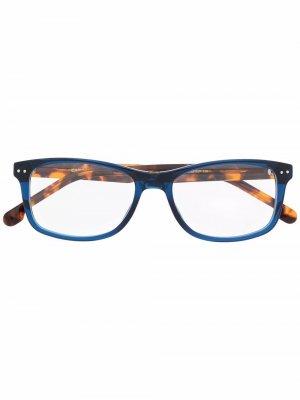 Очки в квадратной оправе черепаховой расцветки Carrera. Цвет: синий