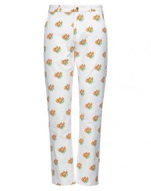 Повседневные брюки ALIFE. Цвет: белый