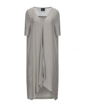 Платье миди ROQUE ILARIA NISTRI. Цвет: серый
