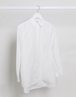Белая поплиновая oversized-блузка из органического хлопка -Белый Monki