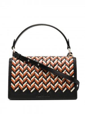 Плетеная сумка-тоут с верхней ручкой Missoni. Цвет: черный