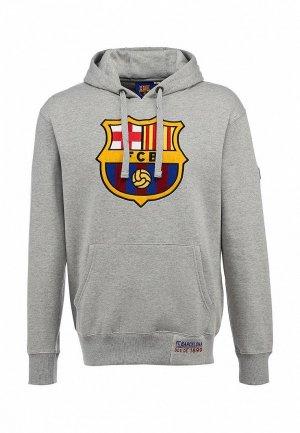 Худи FC Barcelona FC001EMASB32. Цвет: серый