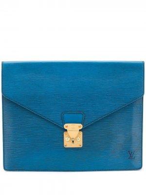 Папка для документов Épi 1994-го года Louis Vuitton. Цвет: синий