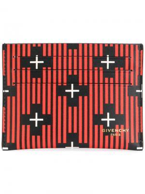 Полосатая визитница с крестами Givenchy. Цвет: чёрный