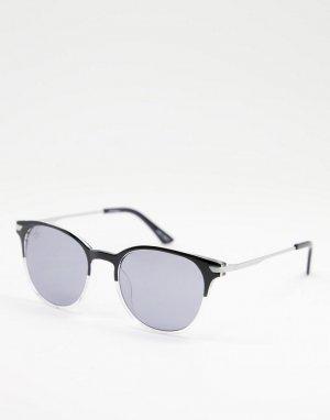 Черные круглые солнцезащитные очки в стиле унисекс -Черный цвет Jeepers Peepers