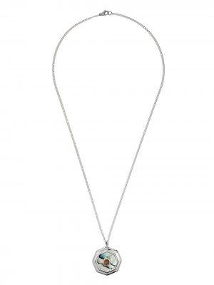Колье Abalone с подвеской Duffy Jewellery. Цвет: silver
