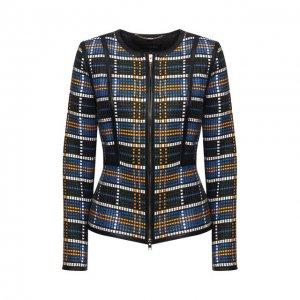 Кожаная куртка Escada. Цвет: синий