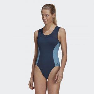 Слитный купальник SH3.RO X-Shape Performance adidas. Цвет: синий