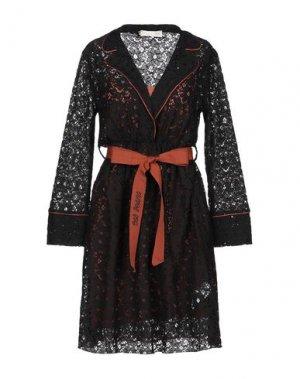 Короткое платье BSB. Цвет: черный