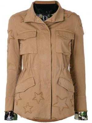 Куртка-бомбер многослойная Bazar Deluxe. Цвет: бежевый