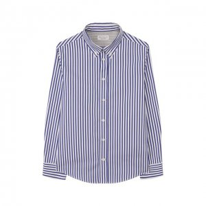 Хлопковая рубашка Brunello Cucinelli. Цвет: синий
