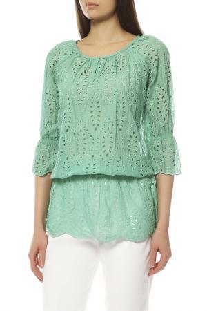 Блуза EXETERA. Цвет: зеленый