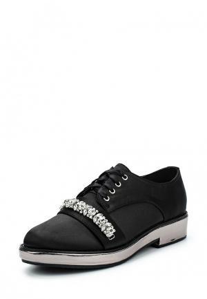 Ботинки LOST INK FLO METALLIC PLATFORM BROGUE. Цвет: черный
