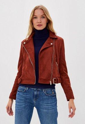 Куртка кожаная Colins Colin's. Цвет: бордовый
