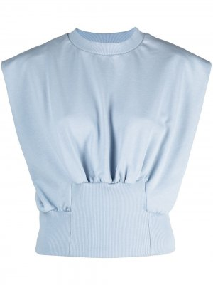 French Terry shirred top 3.1 Phillip Lim. Цвет: синий
