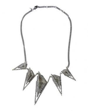 Ожерелье ALEXIS BITTAR. Цвет: стальной серый