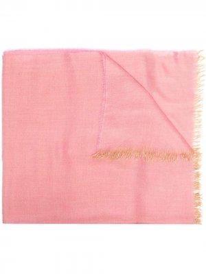 Шарф с бахромой Begg & Co. Цвет: розовый