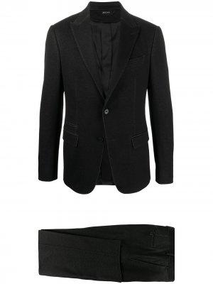 Строгий костюм Z Zegna. Цвет: черный