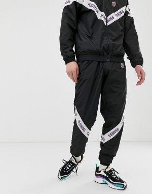 Черные спортивные джоггеры с кантом -Черный K-Swiss