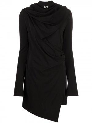 Платье асимметричного кроя Off-White. Цвет: черный