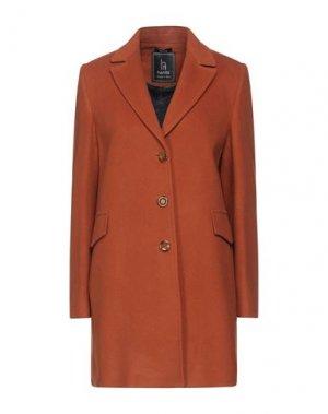 Пальто HANITA. Цвет: ржаво-коричневый