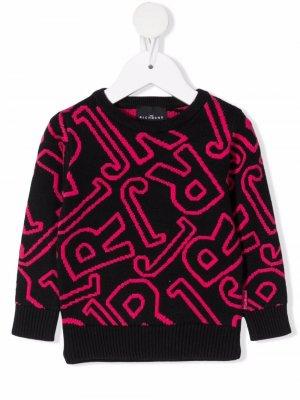 All-over logo print sweatshirt John Richmond Junior. Цвет: черный