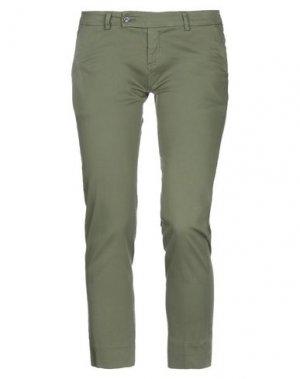 Повседневные брюки TRUE TRADITION. Цвет: зеленый-милитари