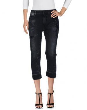 Джинсовые брюки-капри MARCELO BURLON. Цвет: черный