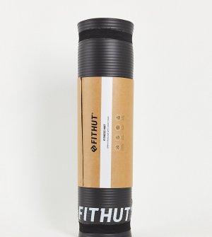 Черный коврик для тренировок толщиной 10 мм -Черный цвет FitHut