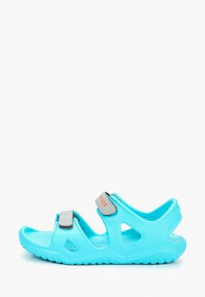 Сандалии Crocs Swiftwater River Sandal K. Цвет: голубой