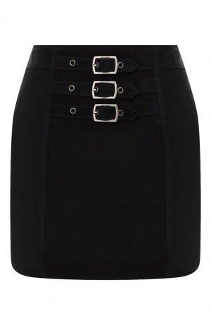 Кожаная юбка Saint Laurent. Цвет: черный
