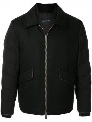 Легкая куртка с дутыми рукавами Cerruti 1881. Цвет: черный