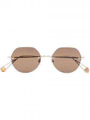 Солнцезащитные очки Rodin Ahlem. Цвет: коричневый