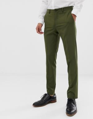 Эластичные облегающие брюки цвета хаки премиум-класса -Зеленый Jack & Jones