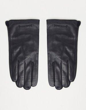 Кожаные перчатки Smith & Canova-Черный цвет And Canova
