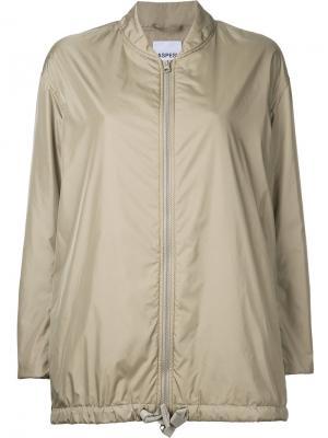 Куртка-бомбер свободного кроя Aspesi. Цвет: зелёный